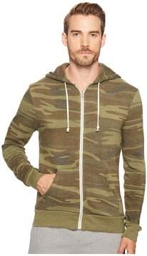Alternative Printed Rocky Zip Hoodie Men's Sweatshirt