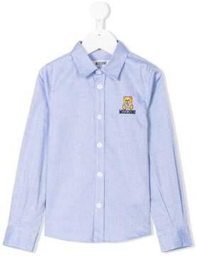 Moschino Kids contrast Toy Bear shirt