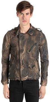 Giorgio Brato Vintage Effect Washed Leather Jacket