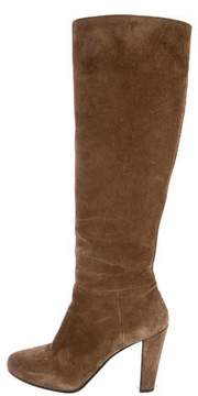 Car Shoe Suede Round-Toe Knee-High Boots
