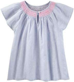 Osh Kosh Oshkosh Bgosh Girls 4-12 Smocked Striped Top