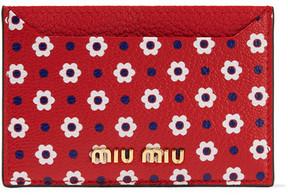 Miu Miu - Printed Textured-leather Cardholder