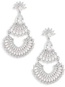 Fallon Monarch Fan Crystal Chandelier Earrings