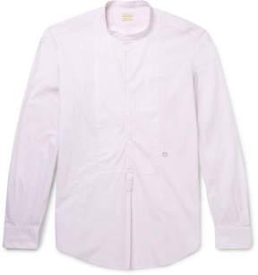 Massimo Alba Grandad-Collar Printed Cotton Shirt