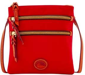 Dooney & Bourke Nylon North South Triple Zip Shoulder Bag - RED - STYLE