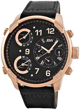 JBW Men's G4 18K Rose Gold-Plated Stainless Steel & Diamond Chronograph Watch, 53mm