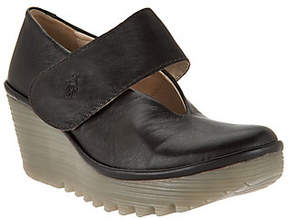 Fly London As Is Leather Mary Jane Wedges - Yan