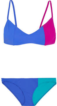 Araks Elsa And Enel Color-block Triangle Bikini - Blue