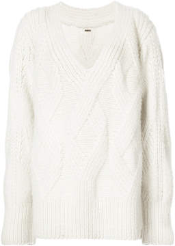 ADAM by Adam Lippes Hand knit cashmere cable sweater