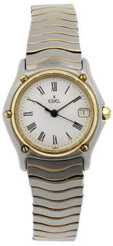 Ebel Classic Wave 183908 18K Yellow Gold & Stainless Steel White Roman Dial 26mm Womens Watch