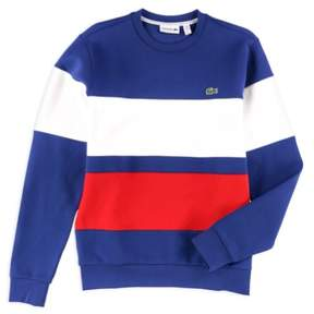 Lacoste Mens Coloblocked Pullover Sweater Blue S
