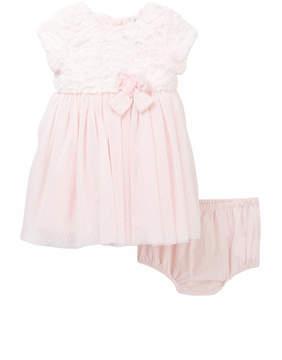 Little Me Faux Fur Dress & Bloomer Set (Baby Girls)