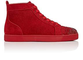 Christian Louboutin Men's Lou New Degra Suede Sneakers