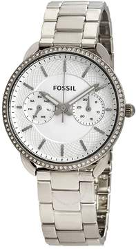 Fossil Tailor Silver Dial Ladies Watch