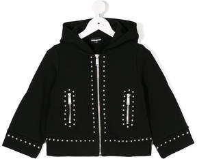 DSQUARED2 studded zip hooide