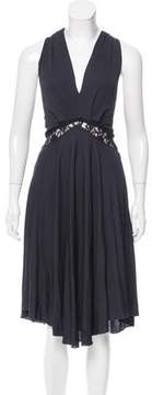CNC Costume National Lace-Accented Knee-Length Dress w/ Tags