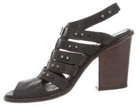 Freda Salvador Leather Multistrap Sandals