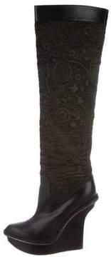 Stella McCartney Jacquard Knee-High Boots