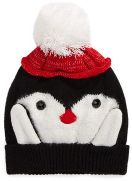 Collection XIIX Women's Penguin Pom Beanie - Black