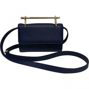 M2Malletier Navy Leather Handbag