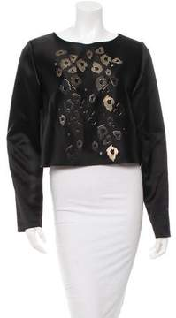 Anthony Vaccarello Embellished Crop Top w/ Tags