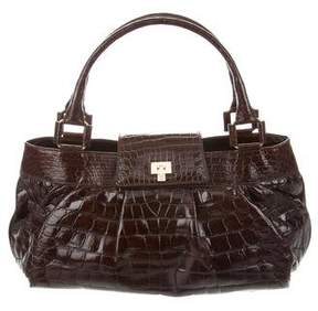 Lambertson Truex Crocodile Flap Bag