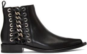 Alexander McQueen Black Braided Chain Boots