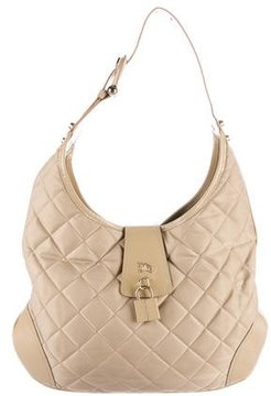 Burberry Brook Hobo - BROWN - STYLE
