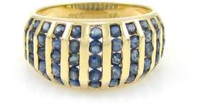 Eleven Paris 14k Yellow Gold Row 1.30ct. Sapphire Band Ring Size 7