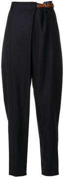 Barena high-rise belted trousers