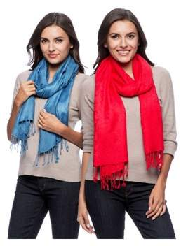 Saachi Unisex Set Of 2 Paisely Scarf.