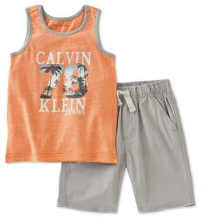 Calvin Klein Boys Logo 2-Piece Tank Top Set