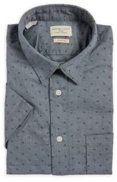 Selected Printed Slim-Fit Dress Shirt