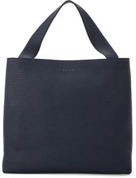 Orciani Jackie Blue Tumbled Leather Shoulder Bag