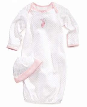 Little Me Baby Set, Baby Girls Ballet Hearts Gown and Beanie