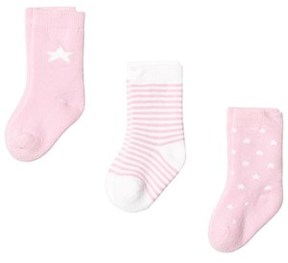 Gant Newborn Socks (3-pack) Pink