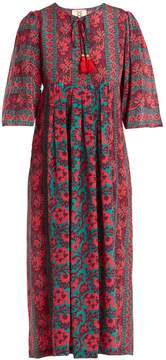 Figue Aly floral-print silk-crepe dress