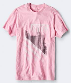 Aeropostale NYC Stripes Graphic Tee