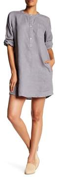 Allen Allen Long Sleeve Henley Dress