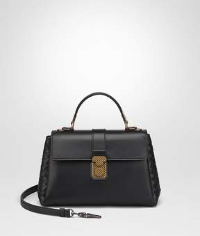 Bottega Veneta Nero Calf Small Piazza Bag