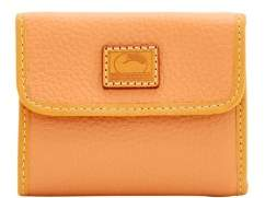 Dooney & Bourke Patterson Leather Small Flap Credit Card Wallet - APRICOT - STYLE
