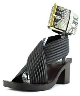 Calvin Klein Jeans Natasha Women Open Toe Leather Black Sandals.