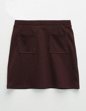 Full Tilt Textured Girls Patch Pocket Skirt