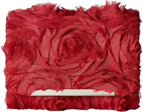 Jessica McClintock Katie Chiffon Rosette Shoulder Bag Clutch Clutch Handbags