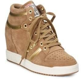 Ash Wedge Hi-Top Sneakers