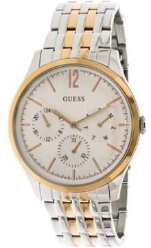 GUESS Men's U0995G3 Silver Two-tone Stainless-Steel Quartz Fashion Watch