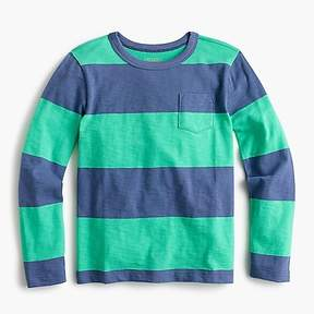 J.Crew Boys' long-sleeve bright striped T-shirt