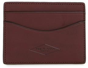 Rag & Bone Men's Hampshire Leather Card Case - None