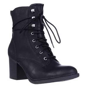 American Rag Ar35 Laina Lace Up Boots, Black.