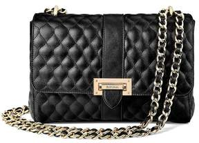 Aspinal of London Large Lottie Bag In Black Quilted Kaviar